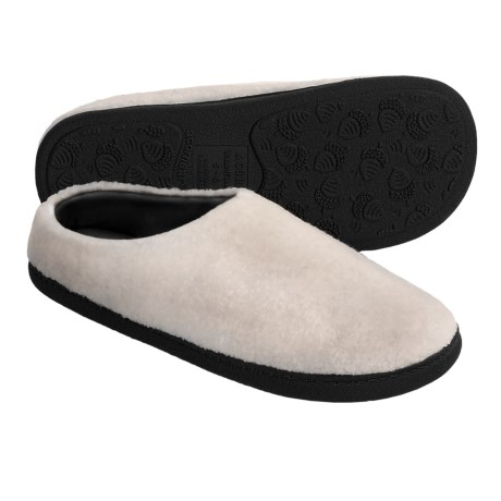 Acorn Berber Tex Slippers - Mules (For Women) in Ivory