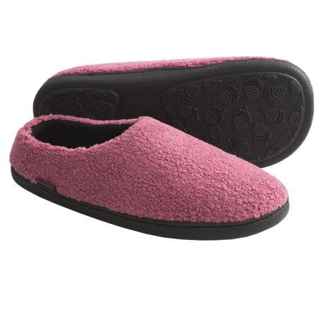 Acorn Berber Tex Slippers - Mules (For Women) in Rose