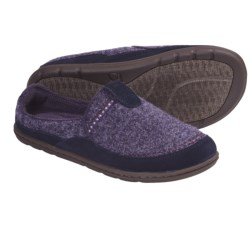 Acorn Bodi Mule Slippers - Italian Wool-Blend (For Women) in Dark Plum Heather