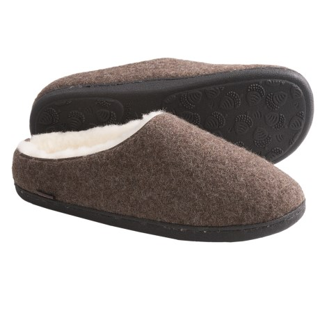 Acorn Boiled Wool Mule Slippers (For Men) in Maple Sugar
