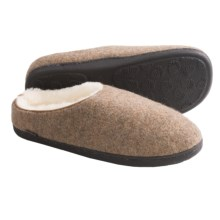 Acorn Boiled Wool Mule Slippers (For Men) in Maple Sugar - Closeouts