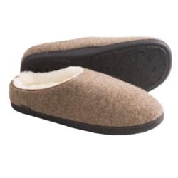 Acorn Boiled Wool Mule Slippers (For Men) in Maple Sugar