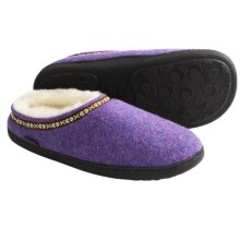 Acorn Boiled Wool Mule Slippers (For Women) in Plum Ice - Closeouts