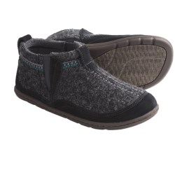 Acorn Bree Bootie Slippers - Wool, Suede (For Women) in Dark Plum Heather