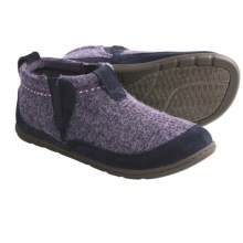 Acorn Bree Bootie Slippers - Wool, Suede (For Women) in Dark Plum Heather - Closeouts