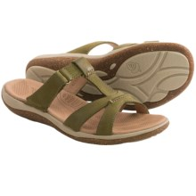 Acorn C2G Lite T-Strap Sandals - Leather (For Women) in Loden - Closeouts