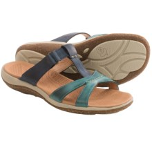 Acorn C2G Lite T-Strap Sandals - Leather (For Women) in Navy/Sea - Closeouts