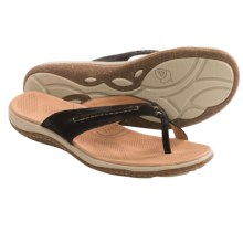 Acorn C2G Lite Thong Sandals - Leather (For Women) in Black - Closeouts
