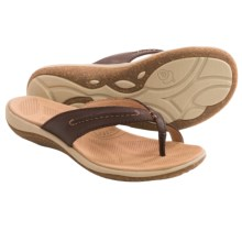 Acorn C2G Lite Thong Sandals - Leather (For Women) in Dark Chocolate - Closeouts