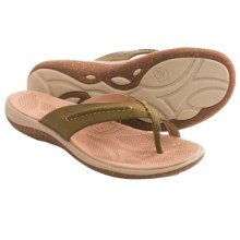 Acorn C2G Lite Thong Sandals - Leather (For Women) in Loden - Closeouts