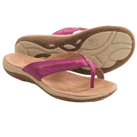 Acorn C2G Lite Thong Sandals - Leather (For Women) in Magenta - Closeouts