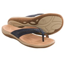 Acorn C2G Lite Thong Sandals - Leather (For Women) in Navy - Closeouts