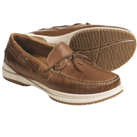 Acorn Casual Camp Moc Shoes - Handsewn Leather (For Men) in Saddle