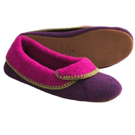 Acorn Cloudia Slippers - Italian Wool-Blend (For Women) in Plum/Pink