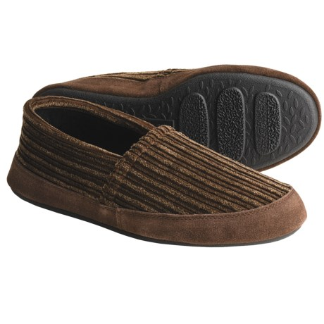 Acorn Corduroy Tex Moccasins (For Men) in Brindle