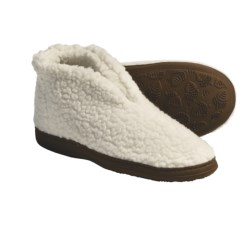 Acorn Cozy Bootie Slippers (For Women) in Black