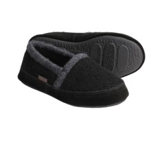 Acorn Cozy Moc Slippers - Boiled Wool (For Boys) in Black - Closeouts