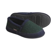 Acorn Cozy Moc Slippers - Boiled Wool (For Boys) in Forest - Closeouts