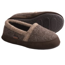 Acorn Cozy Moc Slippers - Boiled Wool (For Boys) in Grouse