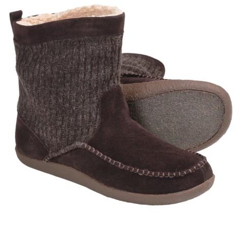 Acorn Crosslander Boots - Suede, Insulated (For Men) in Cigar