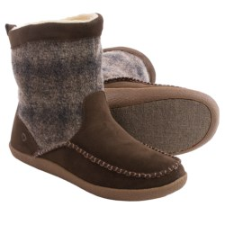 Acorn Crosslander Boots - Suede, Insulated (For Men) in Driftwood Plaid