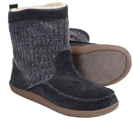 Acorn Crosslander Boots - Suede, Insulated (For Men) in Graphite