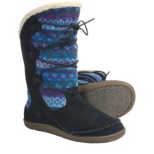 Acorn Crosslander Boots - Suede-Wool (For Women) in Atlantic - Closeouts
