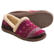 Acorn Crosslander Moc Slippers (For Women) in Mulberry - Closeouts