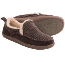 Acorn Crosslander Slippers - Fleece Lining (For Men) in Cigar - Closeouts