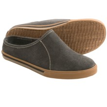 Acorn Crossroad Mule Slippers (For Men) in Charcoal Suede - Closeouts