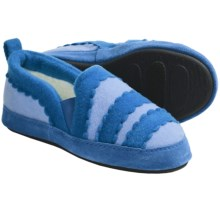 Acorn Cupcake Slippers (For Girls) in Ice/Turquoise - Closeouts