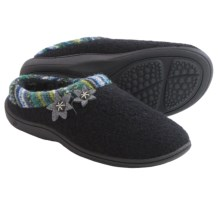 Acorn Dara Mule Slippers - Boiled Wool (For Women) in Black - Closeouts