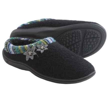 Acorn Dara Mule Slippers - Boiled Wool (For Women) in Black - Closeouts