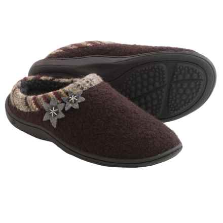Acorn Dara Mule Slippers - Boiled Wool (For Women) in Espresso - Closeouts