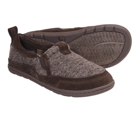 Acorn Descent Moc Slippers (For Men) in Graphite Heather