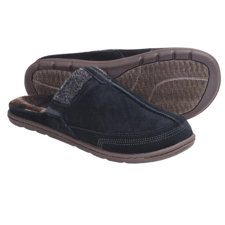 Acorn Descent Mule Slippers (For Men) in Graphite Suede