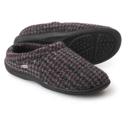 Acorn Digby Gore Slippers - Wool Blend (For Men) in Burgundy Check - Closeouts