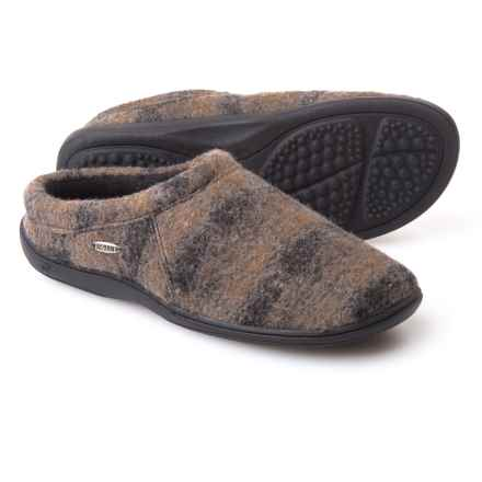 Acorn Digby Gore Slippers - Wool Blend (For Men) in Driftwood Plaid - Closeouts