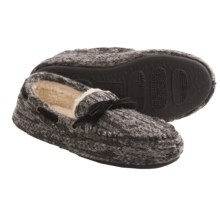 Acorn Dorm Moc Slippers - Wool (For Women) in Ash - Closeouts