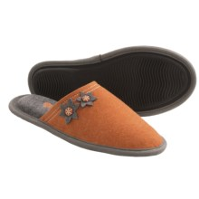 Acorn Dorm Scuff Slippers - Felt (For Women) in Pumpkin - Closeouts