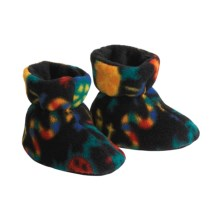 Acorn Easy Booties (For Toddlers) in Black Lizard - Closeouts