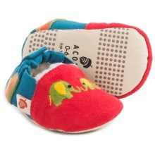 Acorn Easy-On Moc Slippers - Fleece Lined (For Infants and Toddlers) in Red - Closeouts