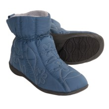 Acorn Ergo Booties - Insulated (For Women) in Dusty Blue - Closeouts