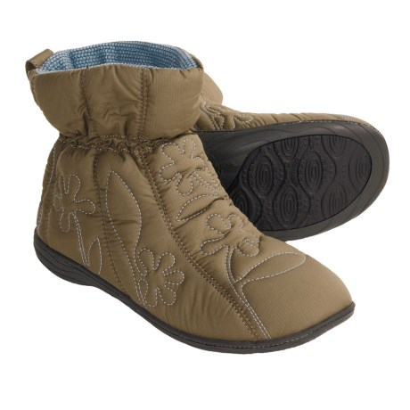Acorn Ergo Booties - Insulated (For Women) in Olive