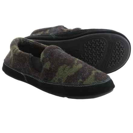 Acorn Fave Gore Slippers - Wool Blend (For Men) in Camo Tweed - Closeouts