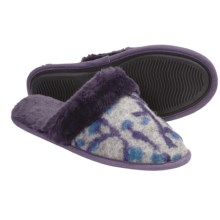 Acorn Fiona Scuff Slippers - Italian Wool-Blend (For Women) in Grey/Violet - Closeouts