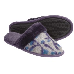 Acorn Fiona Scuff Slippers - Italian Wool-Blend (For Women) in Grey/Violet