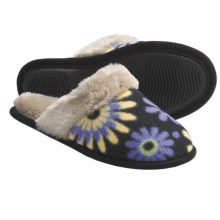 Acorn Fleece Scuff Slippers (For Women) in Pop Flower - Closeouts