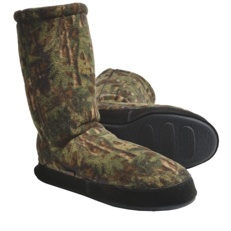 Acorn Fleece Slipper Socks (For Men) in Camo