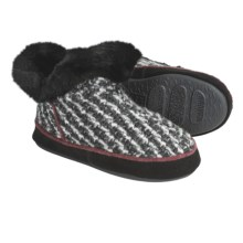 Acorn Giona Tweed Bootie Slippers - Wool, Microfleece Lining (For Women) in Smoke Tweed - Closeouts